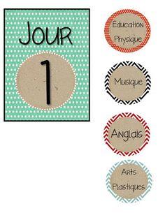 La classe de Karine: Calendrier Cooking Timer, School Stuff, Education, Weekly Calendar, Make A Timeline, Billboard, Management, Organization, Onderwijs