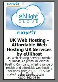 UK Web Hosting Service Provider eUKhost is a premium Website Hosting Company, offering range of reliable and affordable web hosting solutions since 2001. http://www.eukhost.com