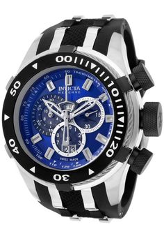 Price:$414.99 #watches Invicta 977, With a bold, masculine design, Invicta chronograph has a poised and calm ambience that's sure to have you looking twice.