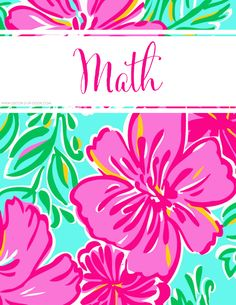 FREE College Class Printables : Lilly Inspired Personalized Binder Covers | Decor 2 Ur Door