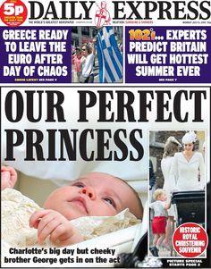 Daily Express Souvenir Newspaper 6/7/15 Royal Princess Charlotte Christening
