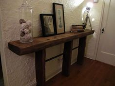 Cool side board made from railway sleepers
