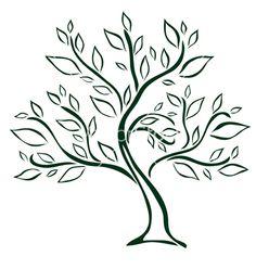 35 New Ideas Abstract Art Inspiration Friends Tree Drawing Simple, Simple Tree, Tree Illustration, Tree Designs, Tree Art, Doodle Art, Vector Art, Art Projects, Art Drawings
