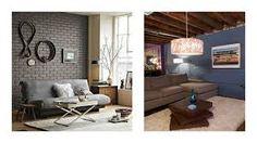 Znalezione obrazy dla zapytania cegła w mieszkaniu Sofa, Couch, Furniture, Home Decor, Settee, Settee, Couches, Interior Design, Sofas