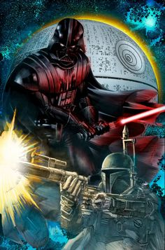 Darth Vader & Boba Fett - Mike Deodato Jr., Colors - Lunyo Alves de Souza