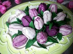 roal icing tulips  cookiedecorating