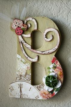 """Decoupage letters...I want to do this since my new last name will start with a """"B"""" :)"""