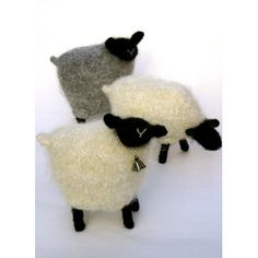 The pattern gives instructions on two sheep designs: standing and grazing. These folk-like sheep are quick to knit up and felt. Knitting with alpaca yarns, or carrying along a fine strand of mohair, create soft, fluffy sheep.And don't forget the infamous black sheep, every flock needs one!