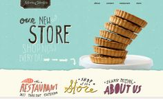 Playful website using typography as point of interest #webdesign