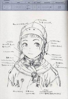 Range Murata_Last Exile (Lavie) Character Concept Character Drawing, Character Concept, Concept Art, Manga Drawing, Manga Art, Range Murata, Last Exile, Unique Drawings, Chica Anime Manga
