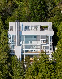 richard meier's famous 'douglas house' — completed in 1973 — has been included on the united states national register of historic places — becoming part of a select list of cultural resources deemed worthy of preservatio