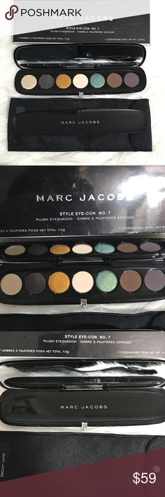 Marc Jacobs  The Night Owl Eyeshadow Palette This is brand new in box. Never switched or touched. Gorgeous palette with 7 colors!  Richly pigmented. Can go from every day to a night time look with the addition af the gorgeous golden and turquoise shades. Style eye-con no. 7 collection. Marc Jacobs Makeup Eyeshadow