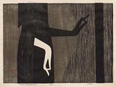 Kiyoshi Saito, Tenderness, 1959, Color woodcut, The Cleveland Museum of Art