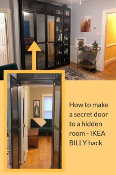 How to make a BILLY bookcase secret door - IKEA HackersSee it. How to make a BILLY bookcase secret doorTop 50 Best Hidden Door Ideas - Secret Room Entrance Secret Room Doors, Cool Secret Rooms, Hidden Door Bookcase, Billy Ikea, Safe Room, Sweet Home, New Homes, House Design, Decoration