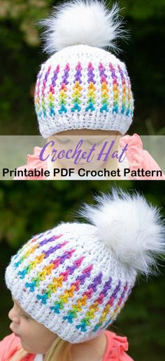 Looking for some Crochet Hat Patterns? There are lots of different winter hat patterns to try from beginner to advanced. Any of the hats would make a great gift. Disney Crochet Patterns, Crochet Baby Hat Patterns, Crochet Beanie Pattern, Crochet Baby Hats, Crochet Patterns Amigurumi, Knitted Hats, Crochet Dolls, Doll Patterns, Easy Crochet Hat
