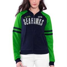 Women's College Navy Seattle Seahawks The Comeback Full Zip Jacket