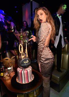 Model Gigi Hadid celebrates her 21st birthday at Intrigue Nightclub at Wynn Las Vegas.