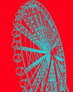 Red Aqua Ferris Wheel