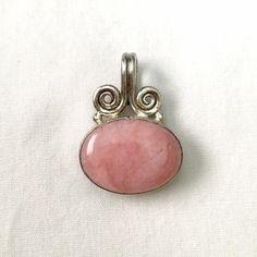 Rhodochrosite Silver Pendant No Trades Vintage Jewelry Necklaces