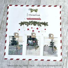Stampin'Up! Layout 12x12 Scrapbooking Jenni Pauli Weihnachten