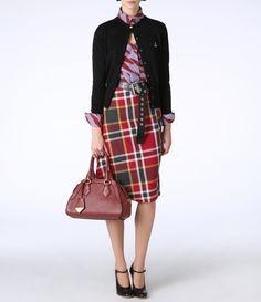 Red Tartan Accident Skirt
