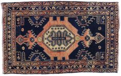 With its saturated color palette and rich waves of abrash, this vintage Persian Viss rug is deeply captivating with its Modern style. Fashionably incorporating regal shades of blue, salmon and ivory, the colors create vigor and a sense of excitement with the dramatic color shifts. A center medallion and tribal motifs contrast beautifully in the deep blue field. With a series of complementary borders and sophisticated style, this  Persian rug is full of character and brings an artistic impact…