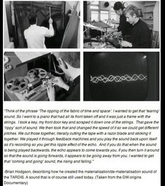 How they made the Tardis noise.