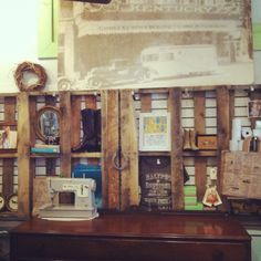 wall displays for retail | new pallet wall display!