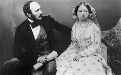 Queen Victoria and Prince Albert in 1854, five years after their marriage. Albert may have been German, but his English was fluent - Today's Royal family is British to the core
