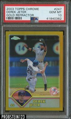 2ca67b187c1 2013 Topps Chrome Blue Refractor Derek Jeter New York Yankees Baseball Card  in Sports Mem