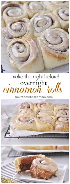 Overnight Cinnamon Rolls are so easy. Make them the night before and then in the morning pull them out of the refrigerator, let rise and bake!