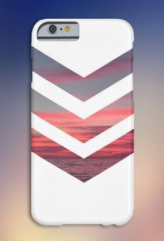 Chevron Pink Sunset Case for iPhone 6 6 iPhone 5 5S