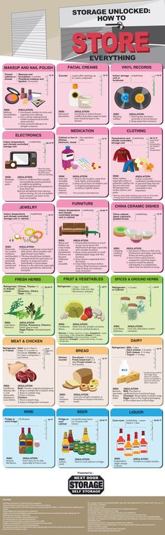 How To Store Everything Infographic