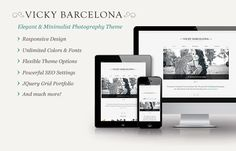 Vicky Barcelona - Responsive WordPress Portfolio Theme by Cristian Bosch , via Behance