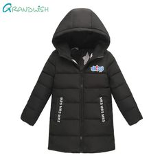 Grandwish Winter Letter 1988 Print Hooded Coat for Children Boys Thick Outerwear Teens Long Down Jacket for a Girl 6T-12T,TC123  #black #white #colors #hot #new #clothing #women #comfortable #xl #xxl