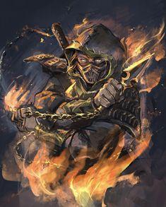 Scorpion Mortal Kombat, Mortal Kombat Art, Arturia Pendragon, Arte Cyberpunk, Dark Art, Hollywood, Movie, Games, Awesome