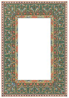 Islamic Motifs, Islamic Art Pattern, Pattern Art, Halloween Frames, Christmas Frames, Art Nouveau, Borders And Frames, Islamic Art Calligraphy, Doodle Patterns