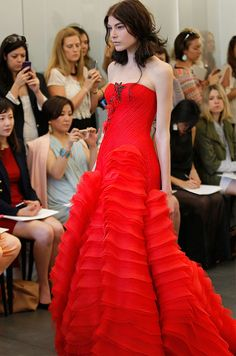 Red wedding dress from Vera Wang, Spring 2013