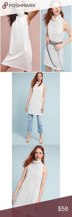 2c1f1b8fcd032 Anthropologie NWT Mock Neck Tunic Dress White Md New with tags Mini dress  Cotton Sleeveless Bust armpit to armpit Women's size medium Akemi + Kin for  Anthro ...