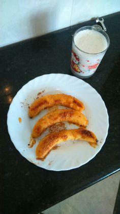 Foto de nuestro desayuno saludable acabado.  Receta de gloria y mari ángeles