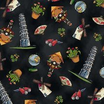 Around the World Landmark Black fabric from Paper Doll  great for your stash or that  GOT it moment.