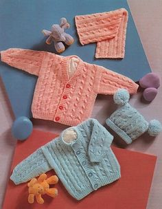 Baby Knitting Patterns Wear Knitting Patterns for Babies Knitting For Kids, Double Knitting, Baby Knitting Patterns, Baby Patterns, Free Knitting, Knitted Baby Cardigan, Cardigan Pattern, Quick Knits, Baby Socks