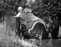 Fangio in an Alfa Romeo