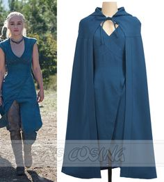Game of Thrones Daenerys Targaryen Blue Dress Cosplay Costume Summer Women Dress Game of Thrones Daenerys Targaryen Blue Dress Cosplay Got Costumes, Blue Costumes, Costumes For Women, Kalessi Costume, Costume Ideas, Costumes Game Of Thrones, Game Of Thrones Cosplay, Daenerys Targaryen Cosplay, Danerys Targaryen Costume