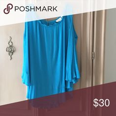 Sexy top! Great cold shoulder top.  From this past season at Chico's.  Can be dressed down or dressed up.  Very flattering! Chico's Tops Blouses