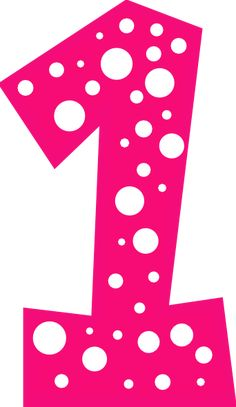 Number 1 Pink And White Polkadot Clip Art At Clker Com Vector Clip Candyland, Alphabet Letter Templates, 1 Clipart, Panda Bebe, Cupcake Logo, Panda Party, More Followers, Online Art, Decoupage