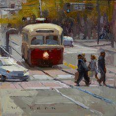 Red Line by Jim Wodark Oil ~ 6 x 6