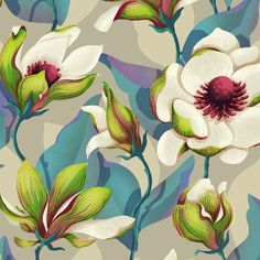 Magnolia Bloom floral print by Lidija Paradinović Nagulov