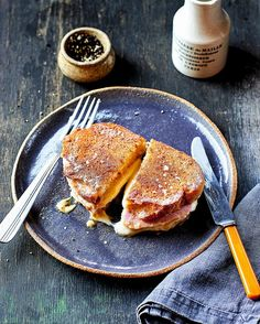 Croque Monsieur - get recipe here: http://www.dailymail.co.uk/femail/article-4160980/James-Martin-s-French-masterclass-Croque-monsieur.html
