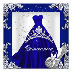 Quinceanera 15th Birthday Dark Blue Dress Gown Personalized Announcement lowest price for you. In addition you can compare price with another store and read helpful reviews. BuyHow to          	Quinceanera 15th Birthday Dark Blue Dress Gown Personalized Announcement please follow the ...